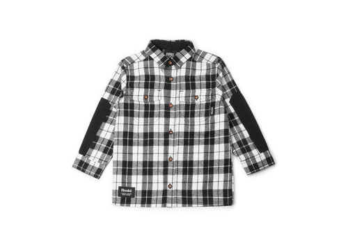 Plaid Shirt for Kids Charcoal