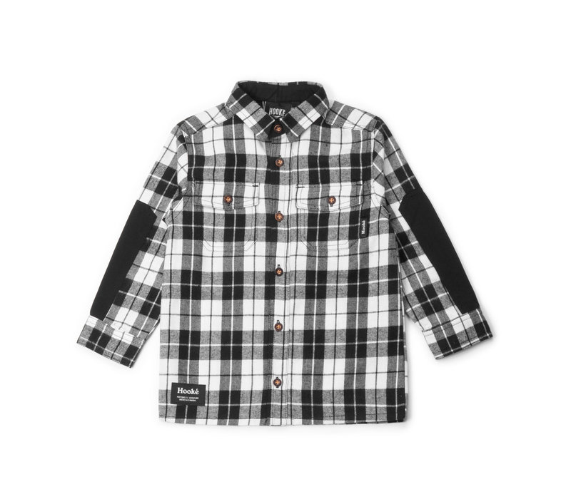 Plaid Shirt for Kids Charcoal