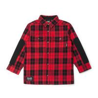 Chemise à carreaux rouge pour enfant
