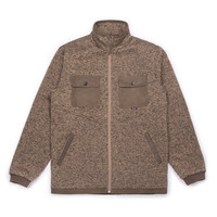 Woodsman Zip-Up Fleece Heather Brown
