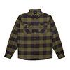 Canadian Flannel Shirt Military Green & Black Plaid