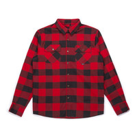 Canadian Flannel Shirt Red & Black Plaid