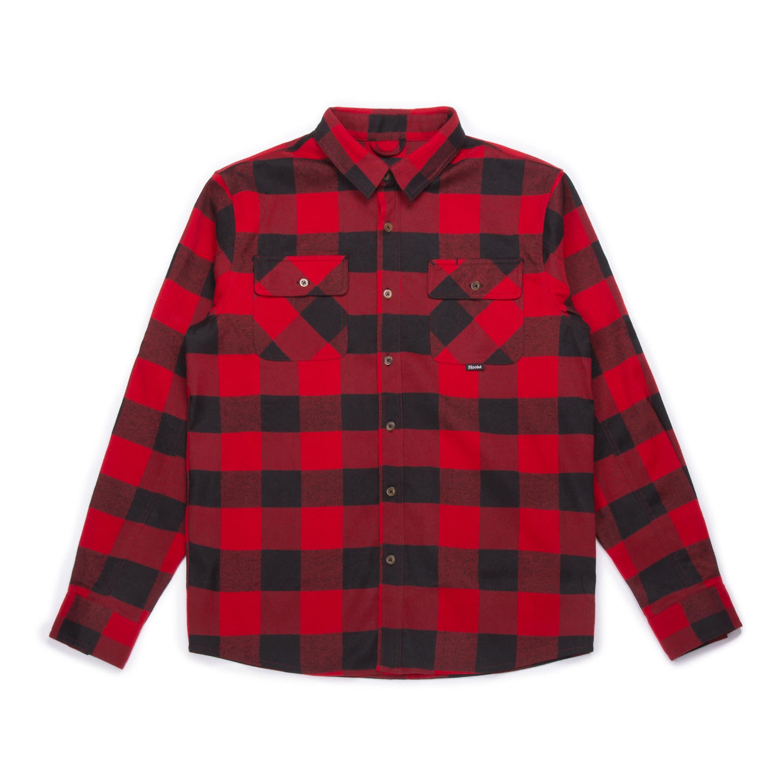 dark red flannel shirt