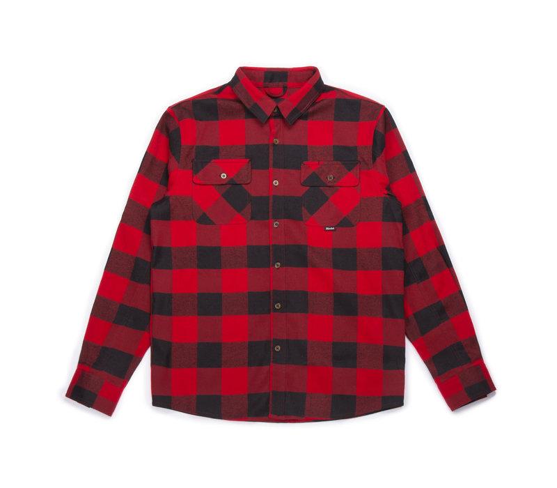 Chemise Canadienne Flanelle Rouge et Noir à Carreaux