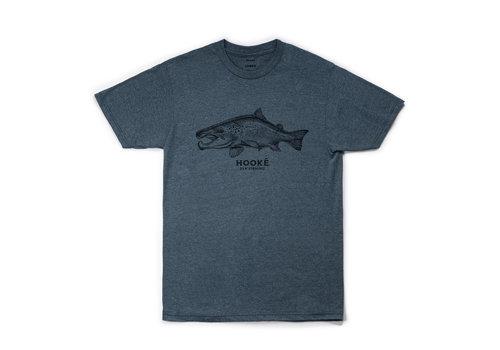 T-Shirt Salmo Jade Noir Chiné