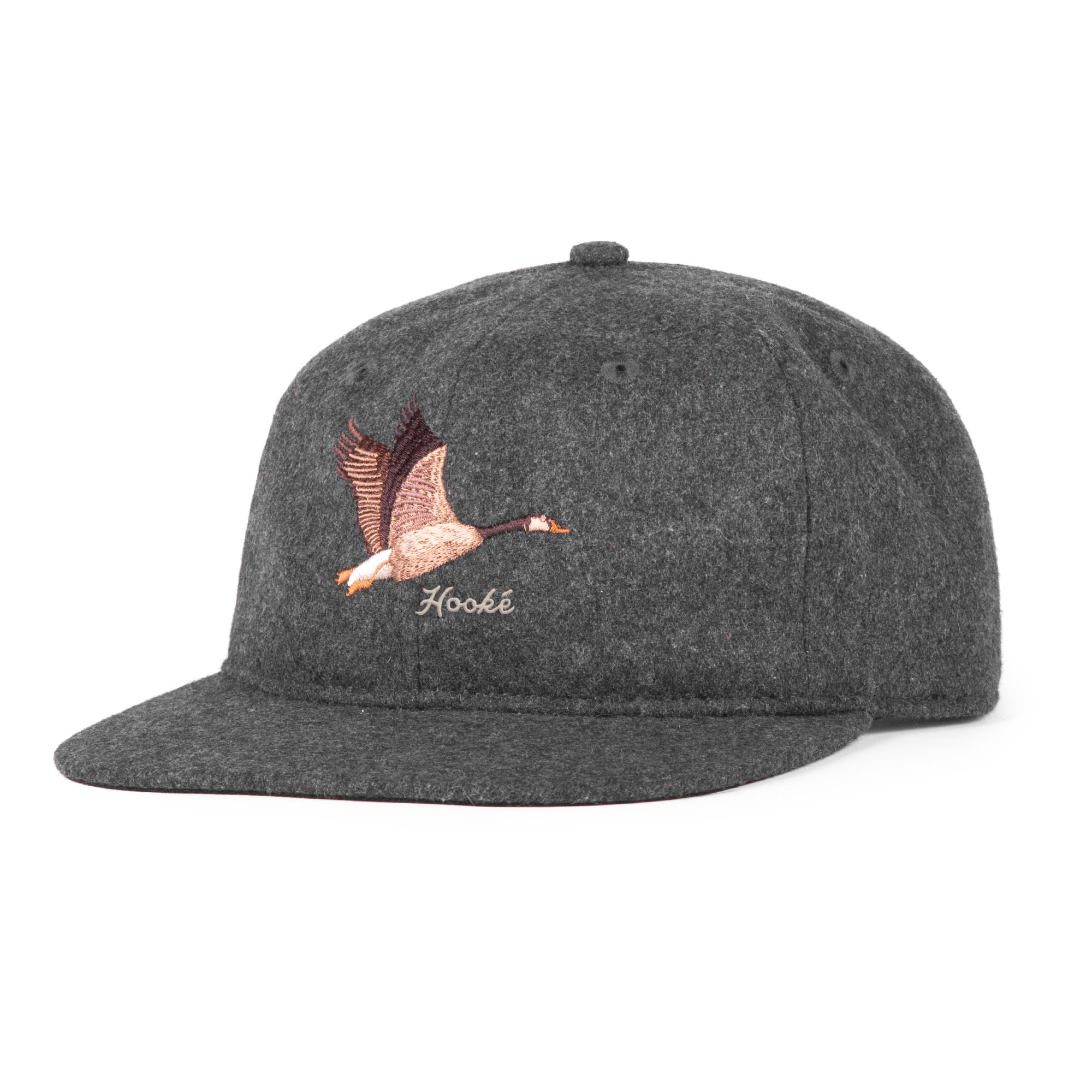 Geese 6-Panel Hat Charcoal