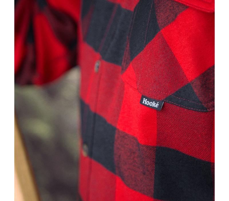 Canadian Flannel Shirt Red & Black Plaid