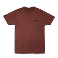 T-Shirt Loup Brique Noir Chiné