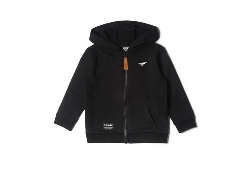 Zip Hoodie for Kids Black