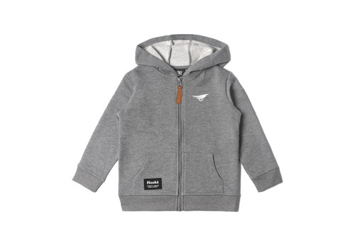 Zip Hoodie for Kids Grey