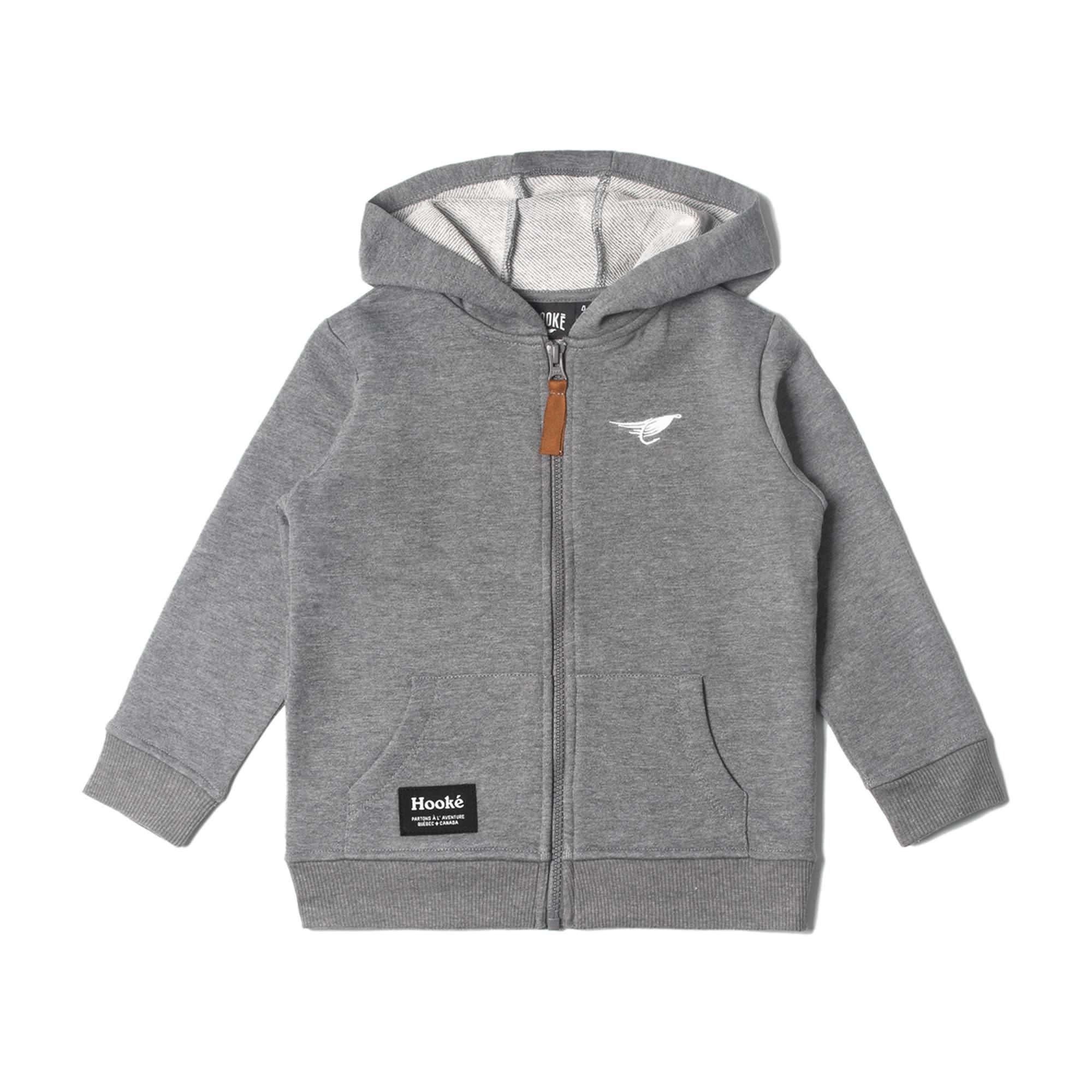 Zip Hoodie for Kids Grey