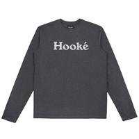 Hooké T-Shirt à Manches Longues Original Noir Chiné