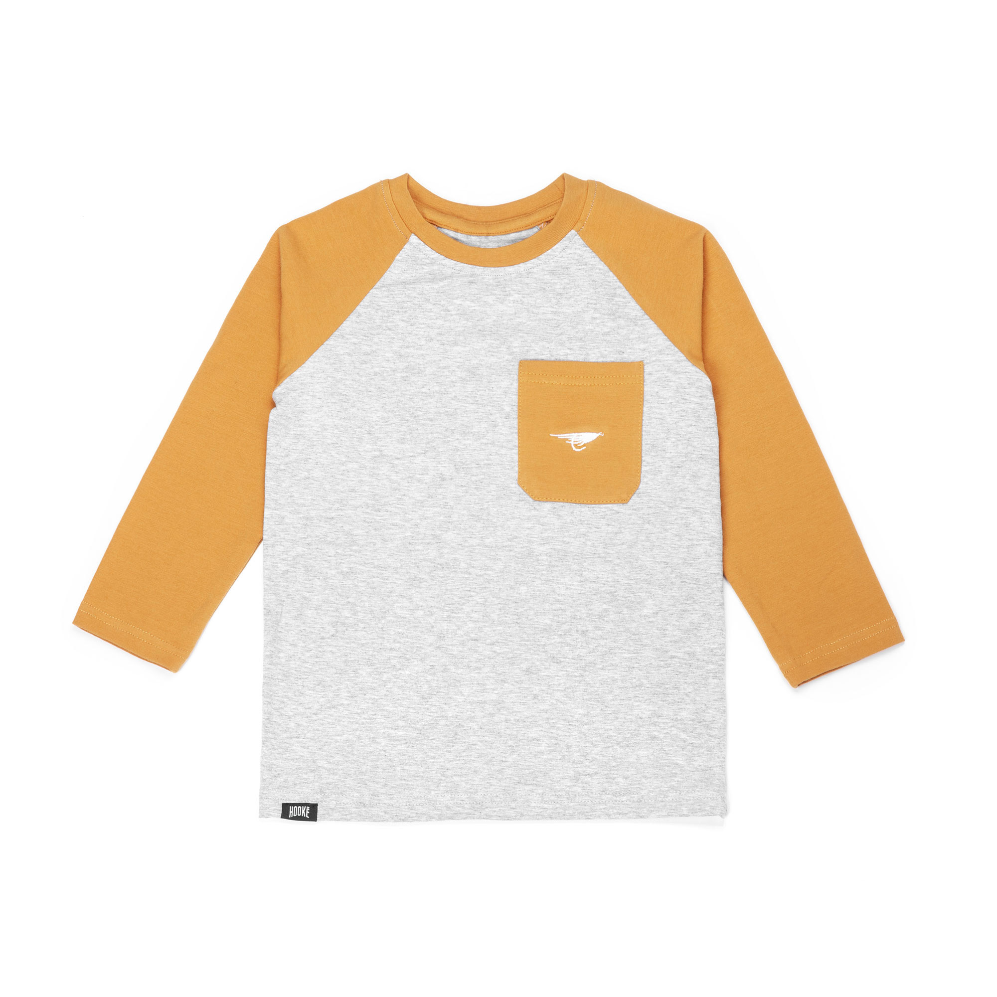 Raglan Fishing Club for Kids Yellow