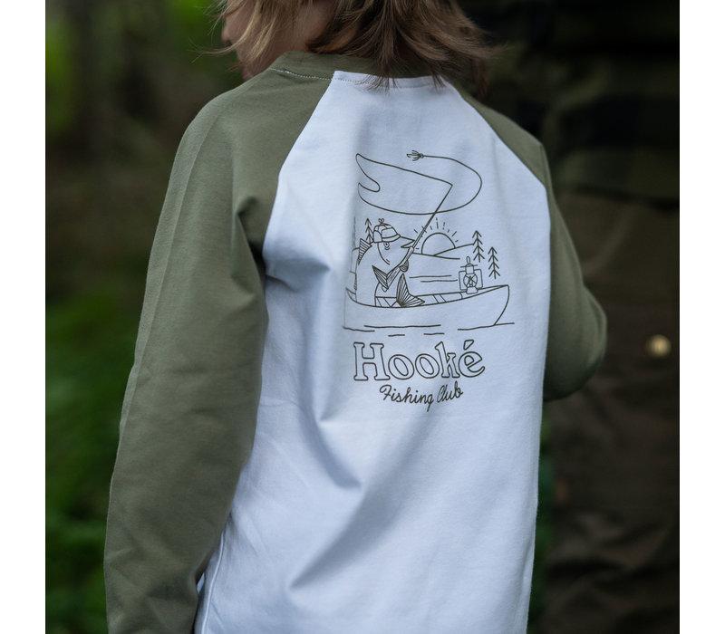 Raglan Fishing Club For Kids Green