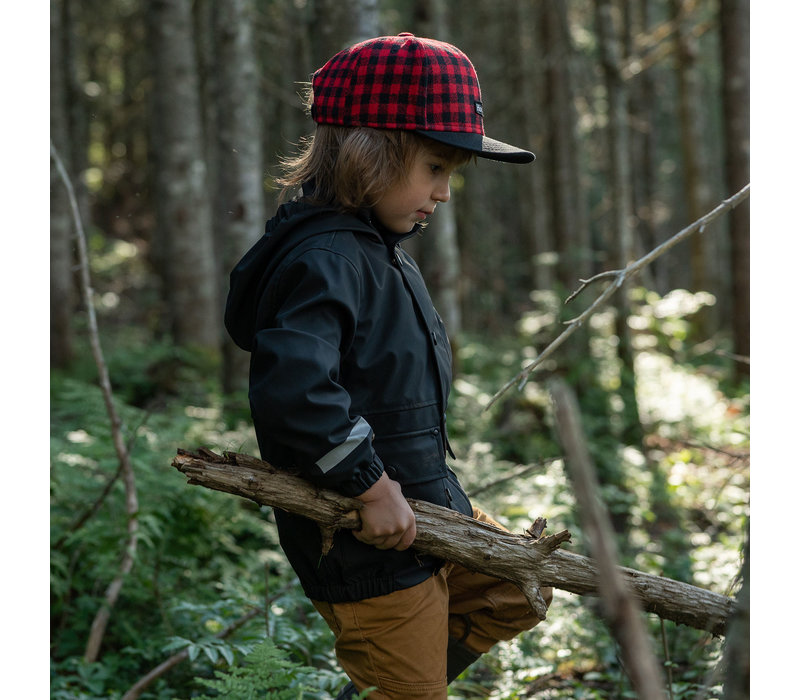 Plaid cap red for kids