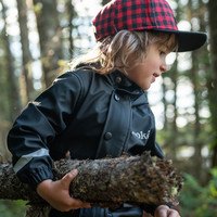 Rain Jacket for Kids Black