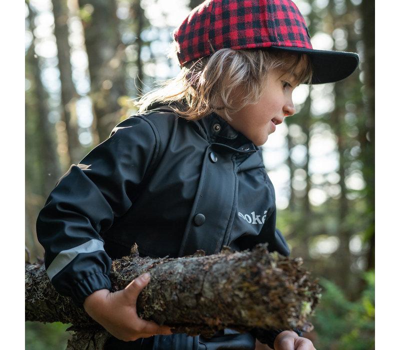 Rain Jacket for Kids Black
