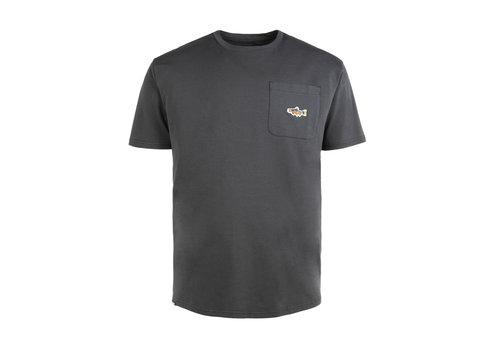 Hooké T-Shirt Truite avec poche Charbon