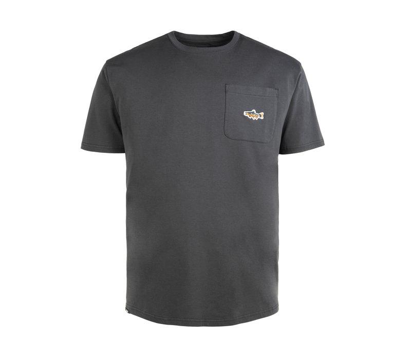 T-Shirt Truite avec poche Charbon