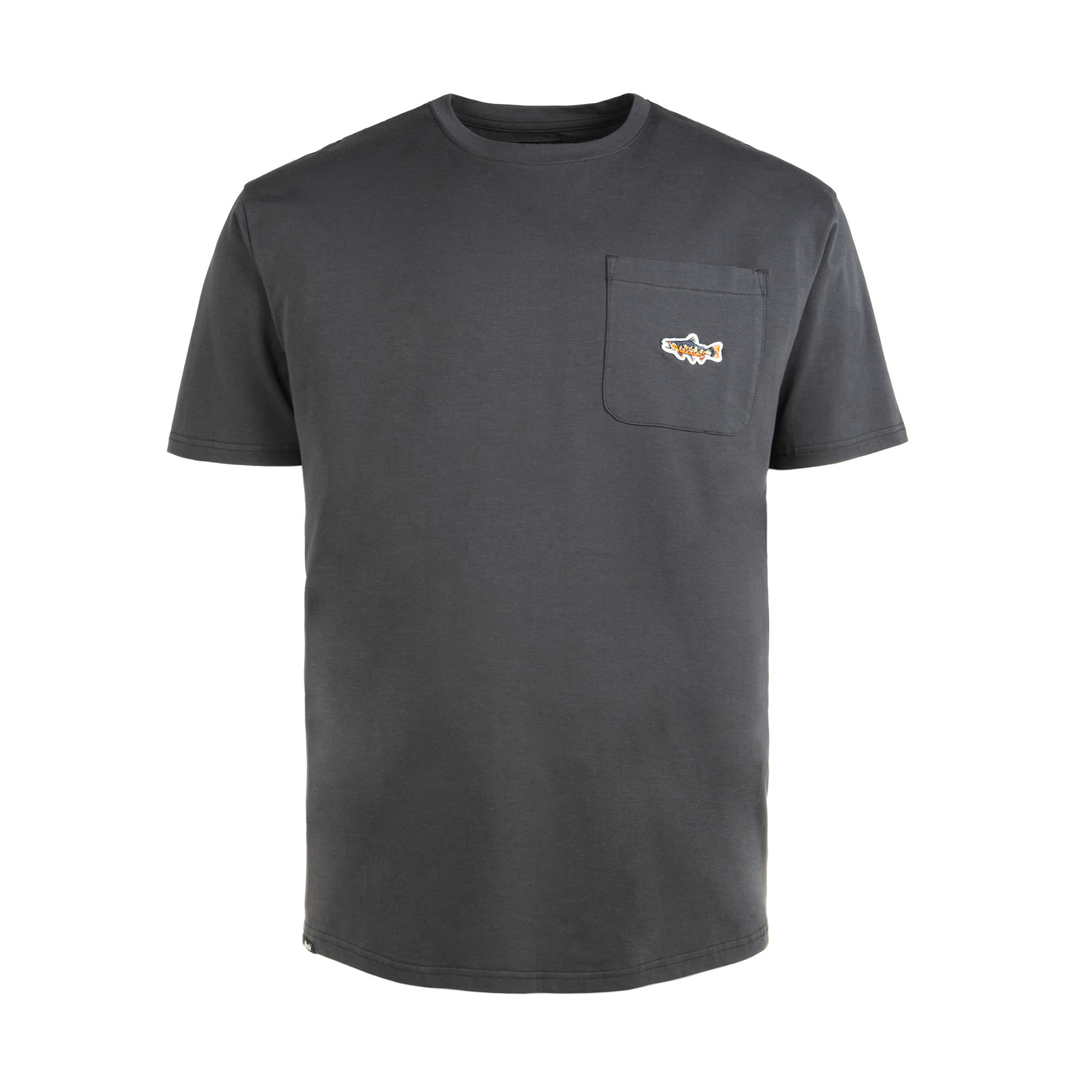 Trout Pocket T-Shirt Charcoal