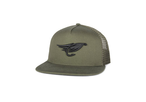 Hooké Fly Trucker Hat Olive