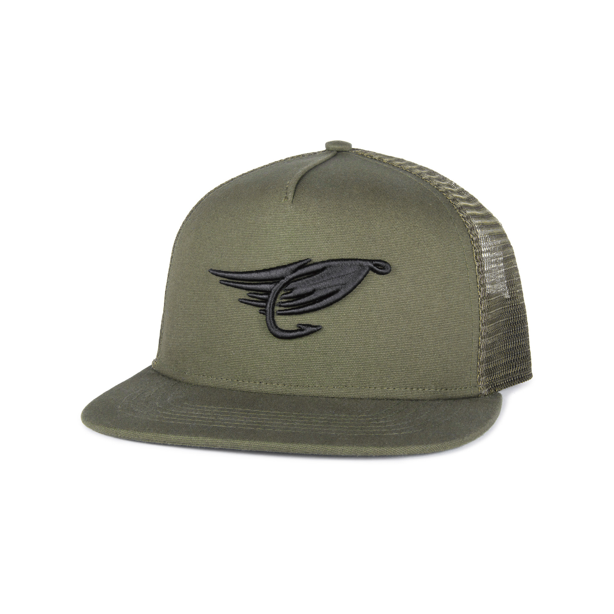 Fly Trucker Hat Olive