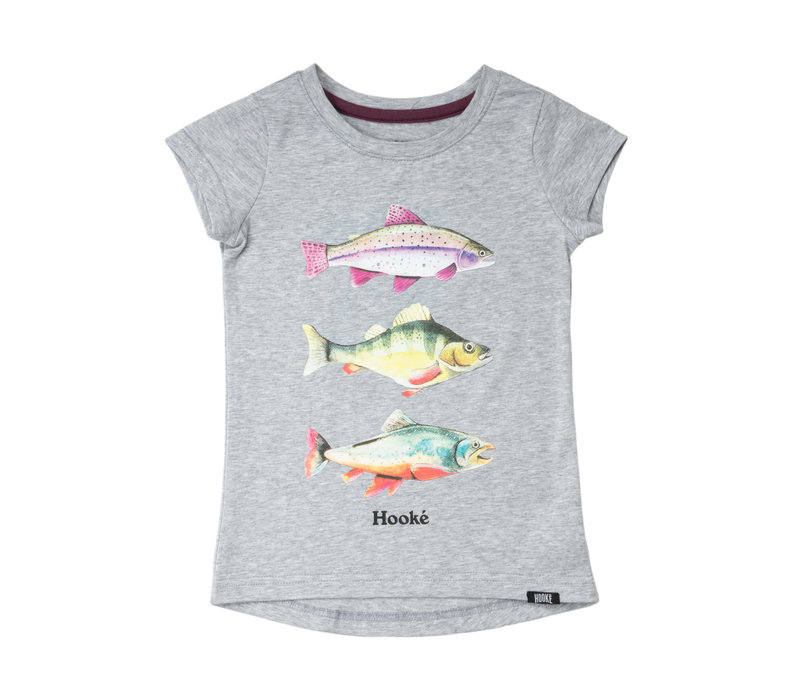 T-Shirt 3 Poissons Pour Filles