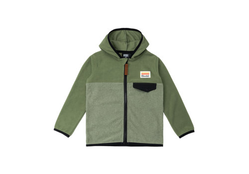 Kangaroo Zip Fleece Olive