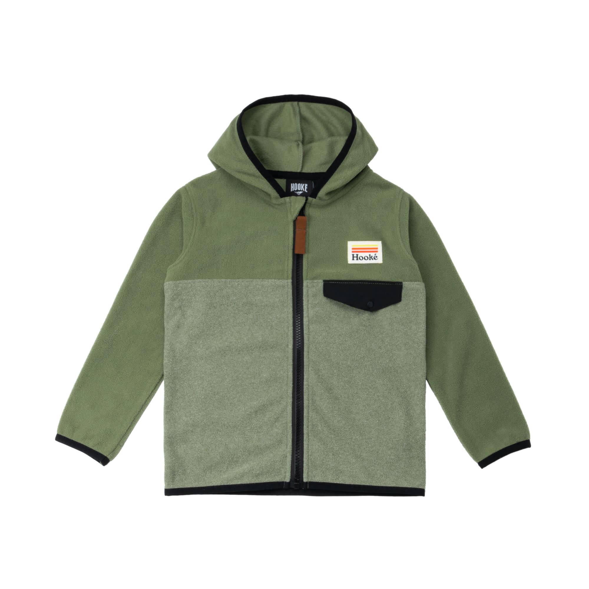 Kangaroo Zip Fleece Olive