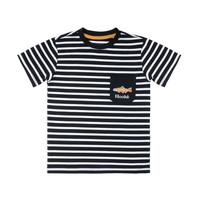 T-Shirt Rayé Noir