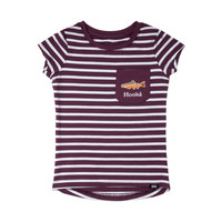 T-Shirt Rayé Prune