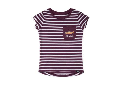 T-Shirt Rayé Prune