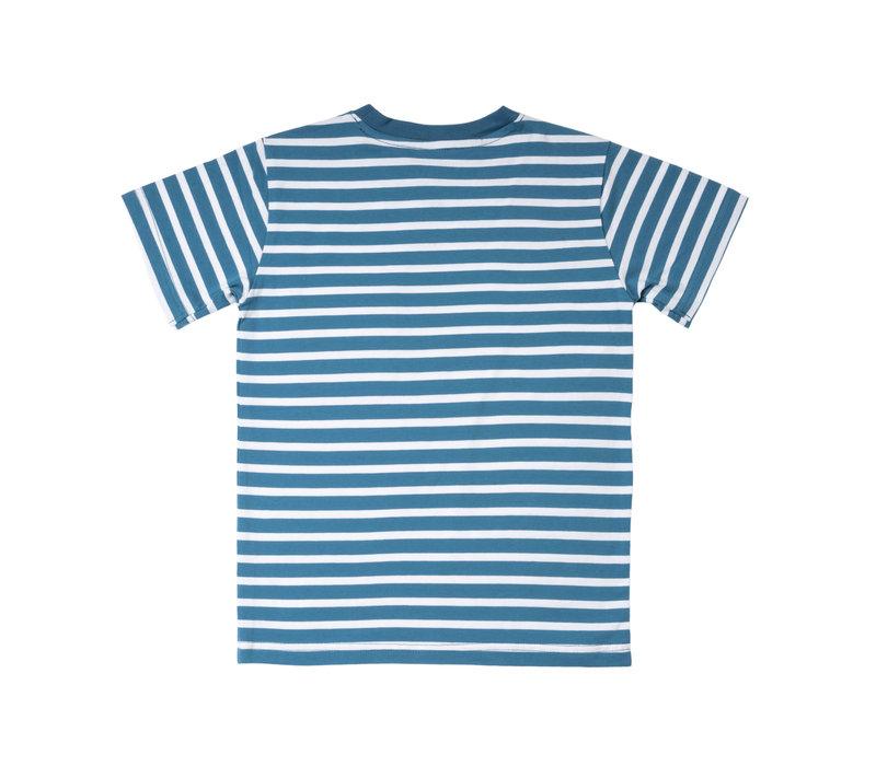 T-Shirt Rayé Bleu