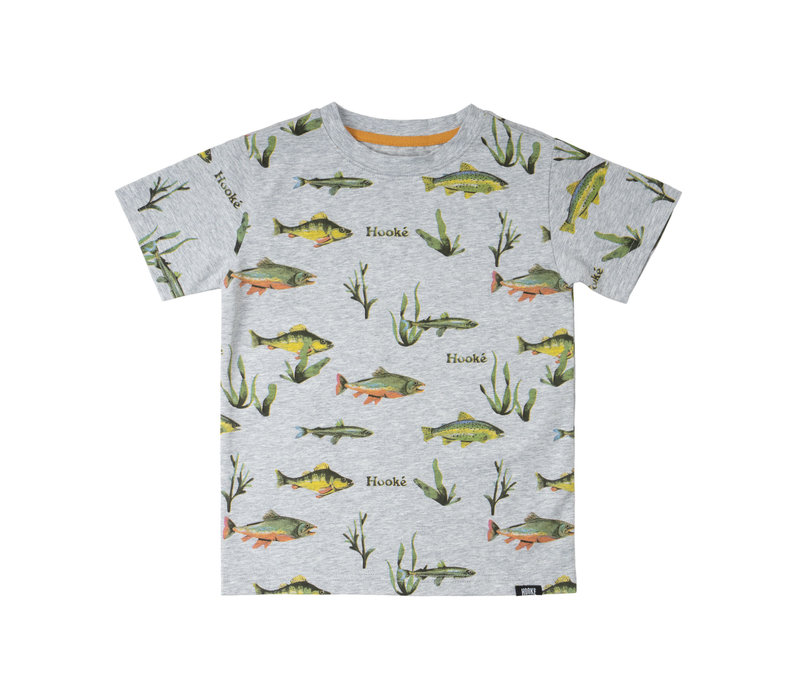 Multi-Fish Print T-Shirt