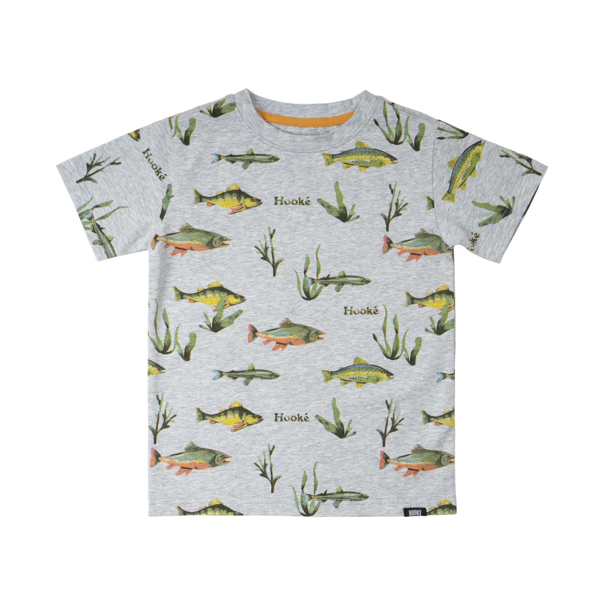 Multi-Fish Print T-Shirt