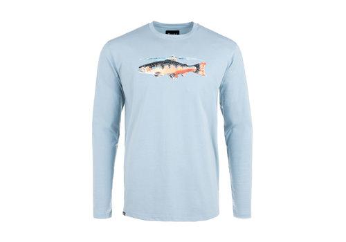 Hooké T-Shirt Truite Manches Longues Bleu Pierre