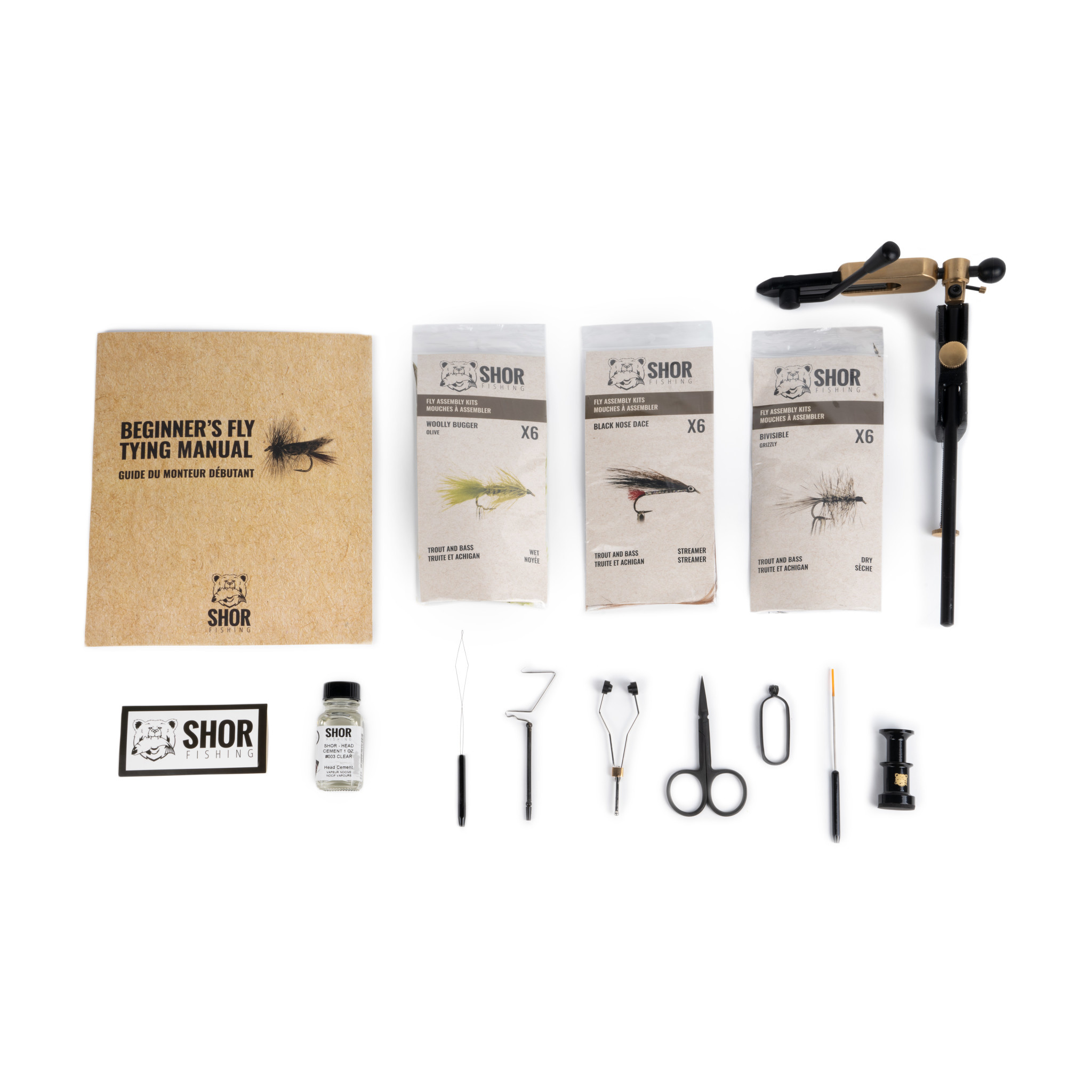 Fly Tying Kit Gold Trout