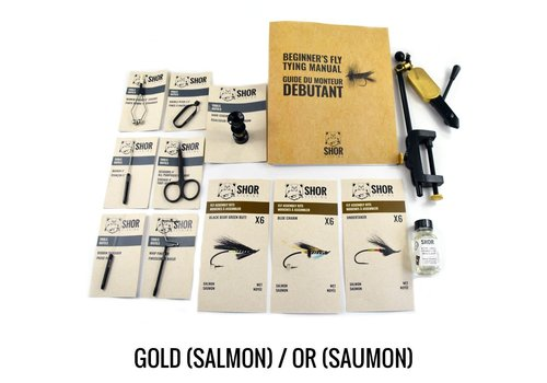 Fly Tying Kit Gold Salmon