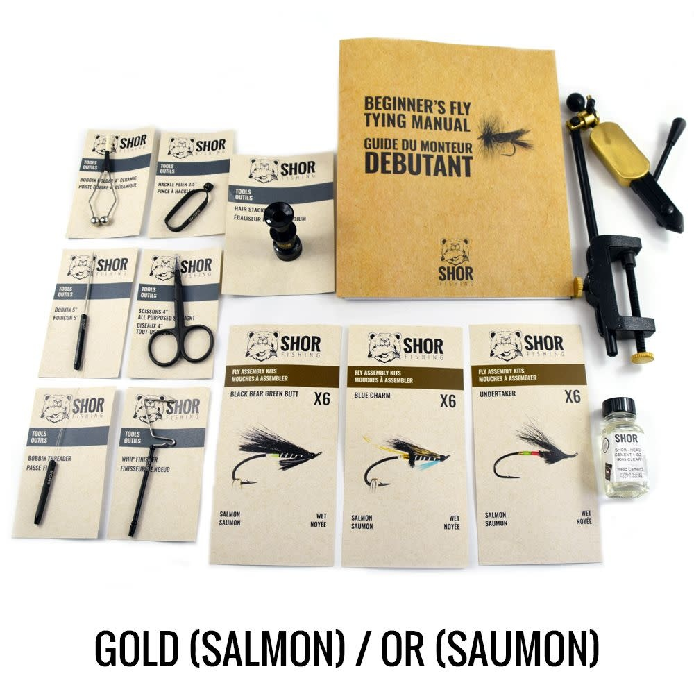 Fly Tying Kit Gold Salmon