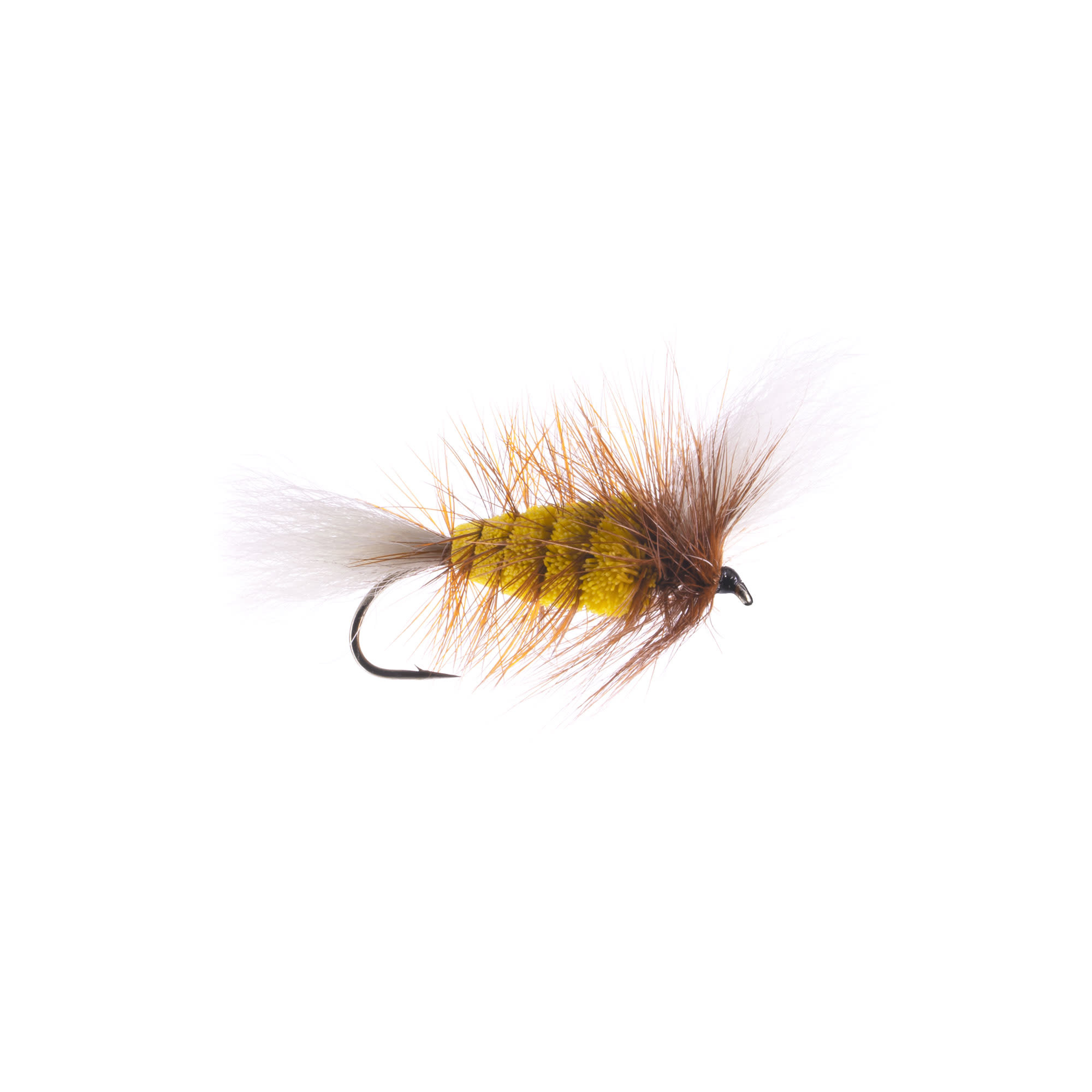 YELLOW-White Tail Brown Hackle ( Wulff Bomber) #4