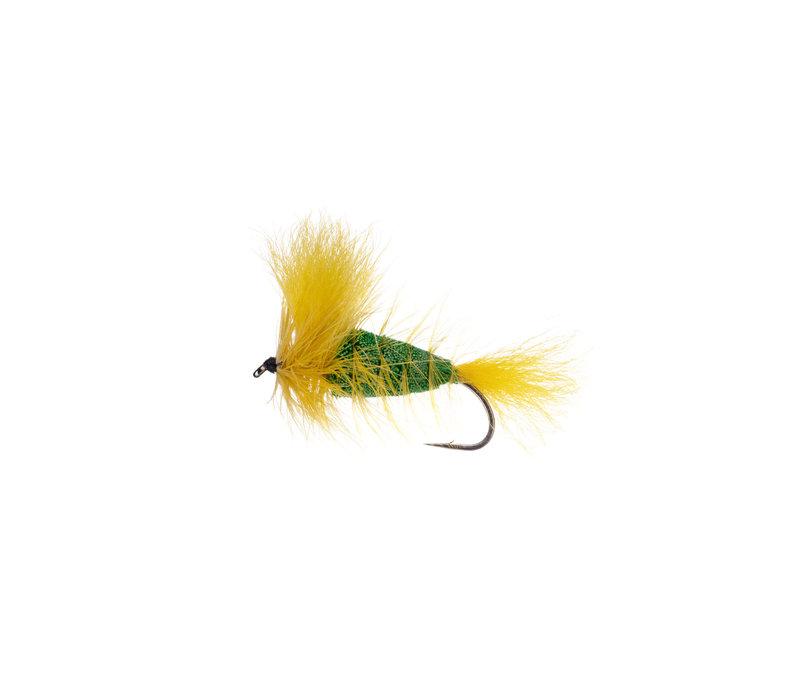 EMERALD GREEN-Yellow Tail-Yellow Hackle (Wulff Bomber) #4