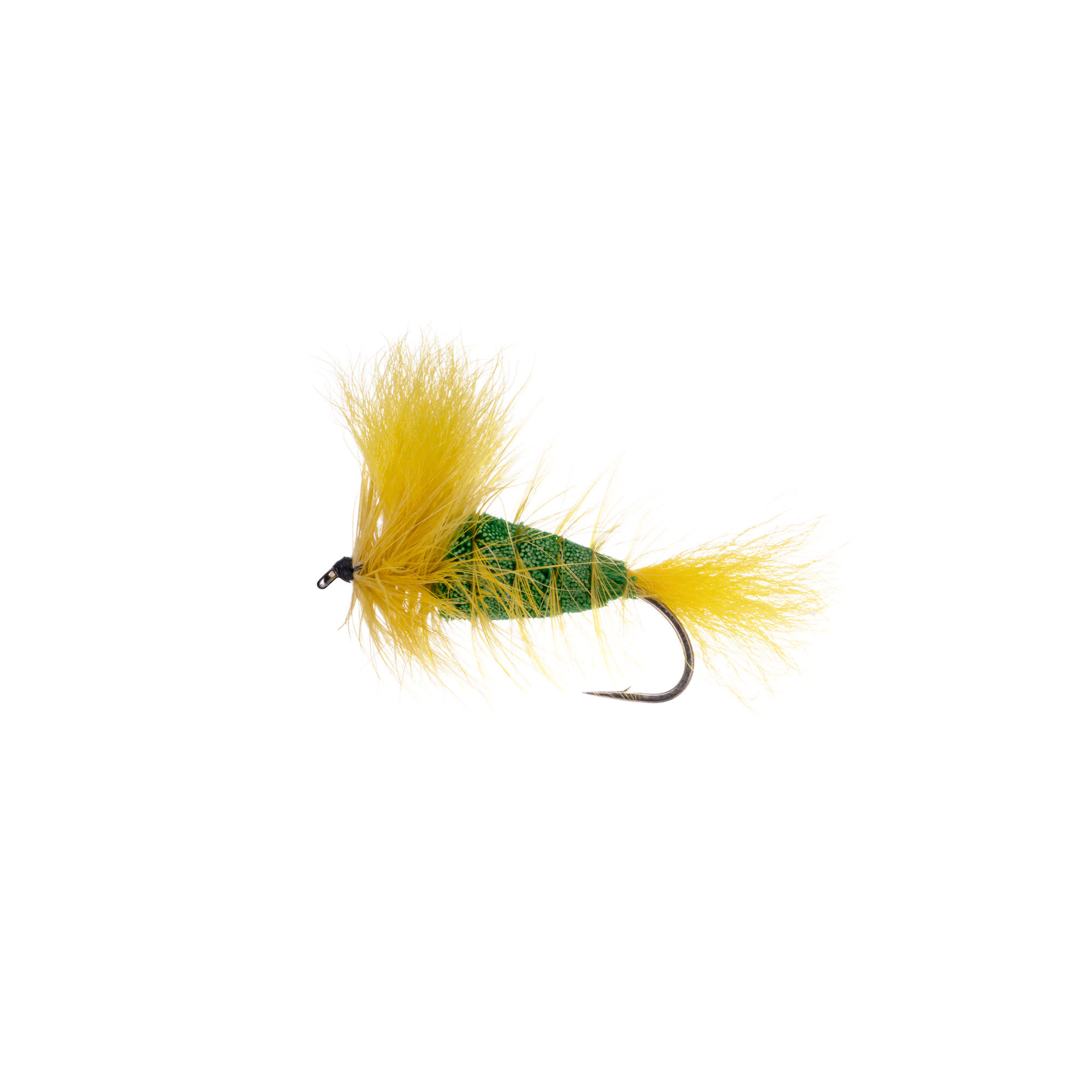 EMERALD GREEN-Yellow Tail-Yellow Hackle (Wulff Bomber) #4