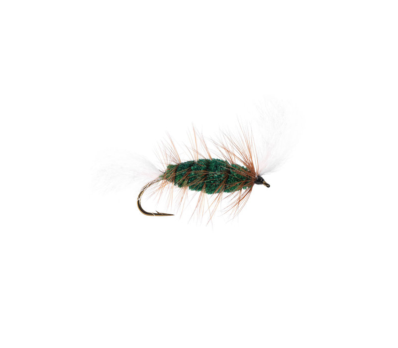 Green-White Tail Brown Hackle (Cigar Bomber) #4