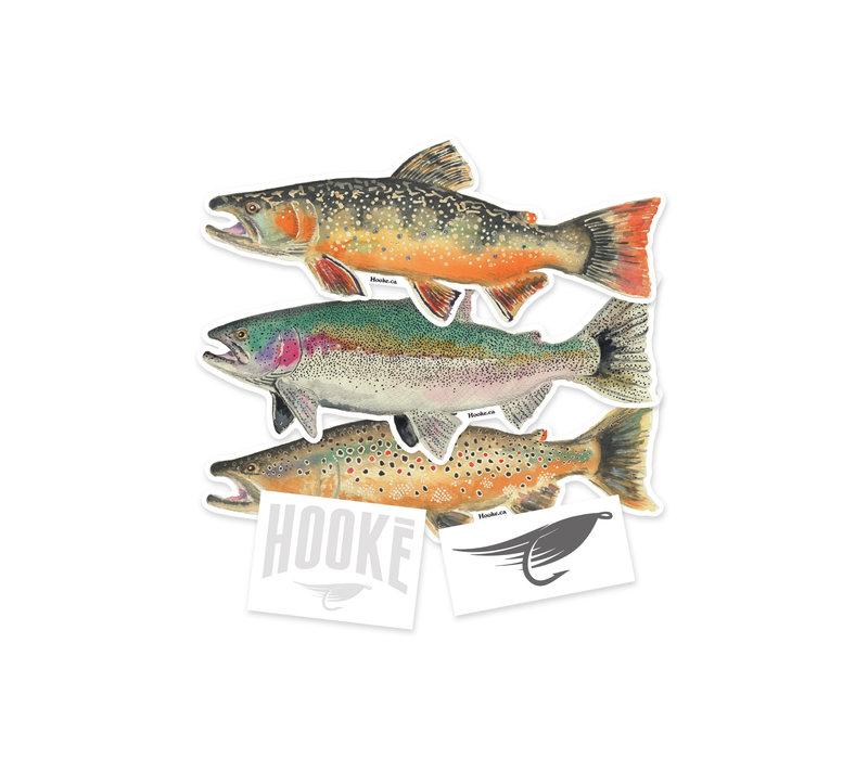Sticker Set 3 trouts