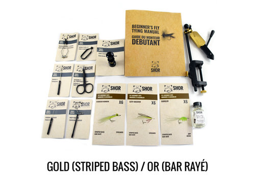 Fly Tying Kit Gold Striped Bass