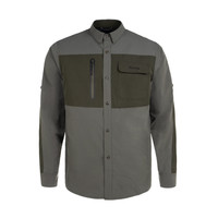 Chemise Field Charbon & Olive