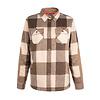 Hooké Women's Trapper Wool Shirt Beige & Brown