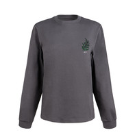 Women's Foliage Long Sleeve Charcoal