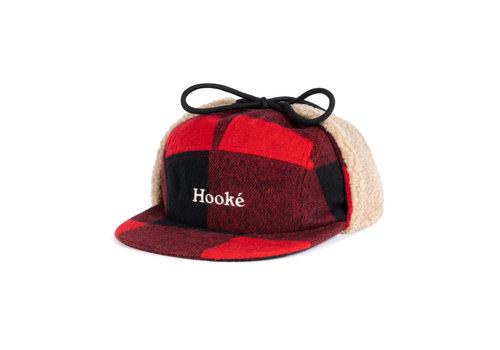 Hooké Casquette à Oreilles Rouge et Noire