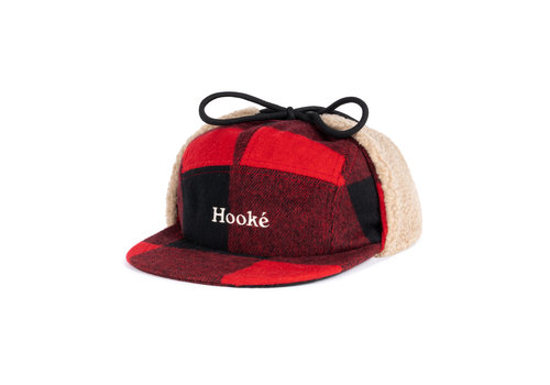 Hooké Hooké Ear Flap Camper Hat Red & Black